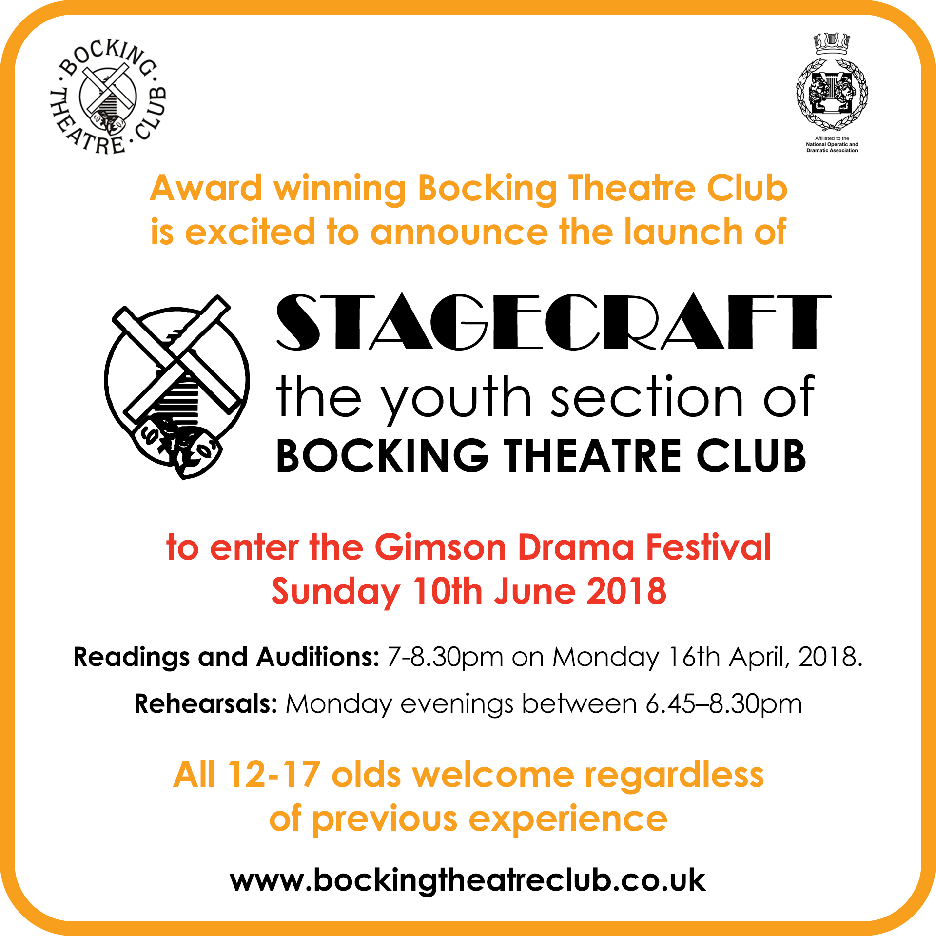 Stagecraft Launch - Gimson Festival 2018